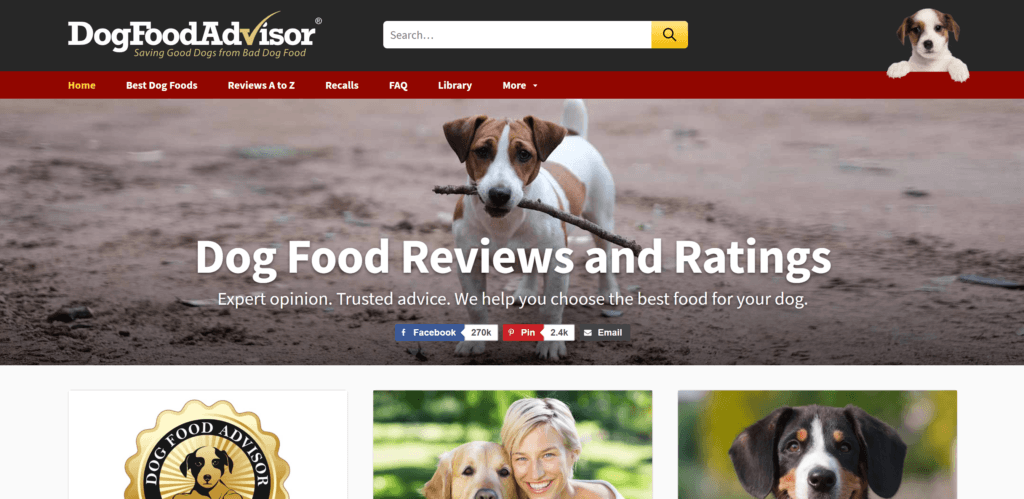 Screenshot - dogfoodadvisor.com