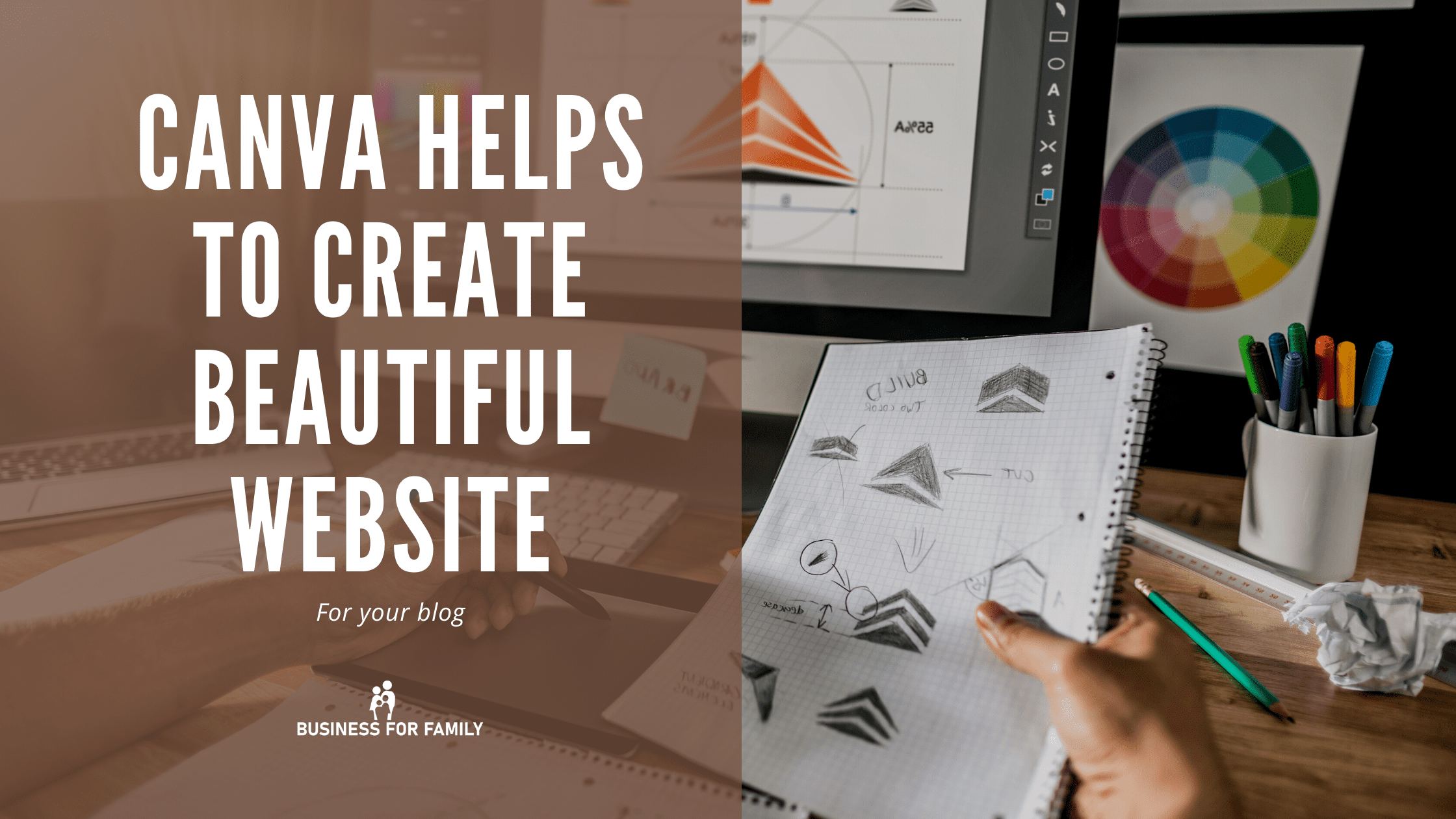 Canva tool that helps to create beautiful website