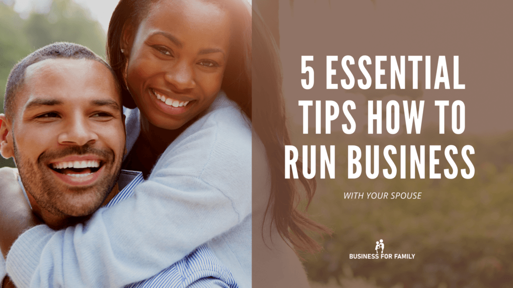 How to run business with your spouse